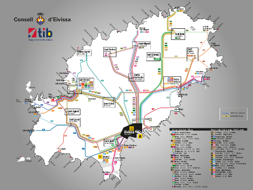 Route and bus stop map CIE
